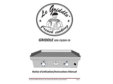 LE GRIDDLE 30″ Instructions Manual