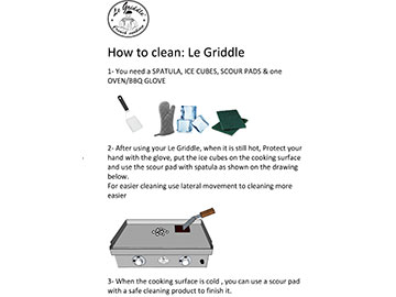 LE GRIDDLE Cleaning Instructions