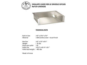 LINER FOR LE GRIDDLE 41″ Technical Facts