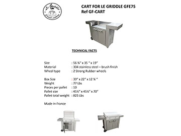 CART FOR LE GRIDDLE 30″ Technical Facts